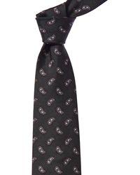Brioni Grey Paisley Silk Tie
