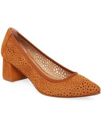 French Sole - Da Vinci Perforated Leather Court Shoes - Lyst