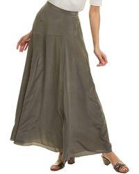 Theory - Asymmetric Silk Maxi Skirt - Lyst