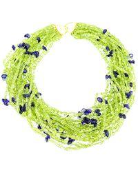 Arthur Marder Fine Jewelry Silver Gemstone Necklace - Green