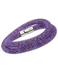 Swarovski Crystal Stardust Plated Convertible Bracelet - Purple