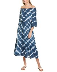 Michael Stars Anya Convertible Tiered Dress - Blue
