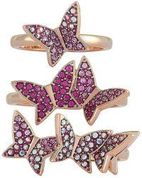 Swarovski Crystal Stainless Steel Ring - Multicolour