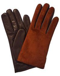 Portolano Suede & Leather Glove - Brown