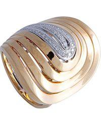 Roberto Coin 18k Two-tone 0.20 Ct. Tw. Diamond Ring - Metallic