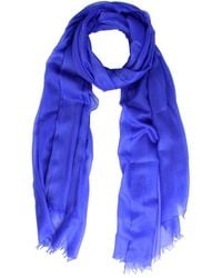 Saachi Women's Delicate Electric Blue Cashmere Scarf
