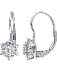 Rina Limor - 10k White Gold & Sapphire Earrings - Lyst