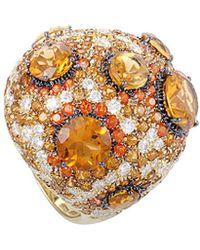 Roberto Coin 18k & Rhodium 2.70 Ct. Tw. Diamond & Gemstone Ring - Metallic