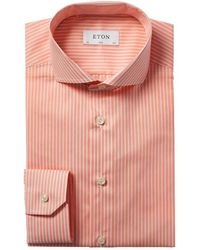 Eton of Sweden Slim Fit Dress Shirt - Orange