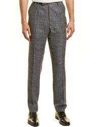 Billy Reid Kooper Silk, Linen & Wool-blend Pant - Gray
