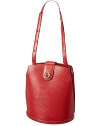 Louis Vuitton Epi Leather Cluny - Red