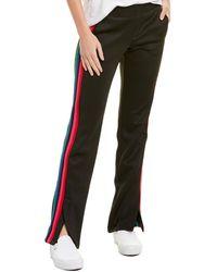 Pam & Gela Rainbow Stripe Track Pant - Black