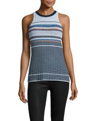 RACHEL Rachel Roy - Stripe Wide Racerback Top - Lyst