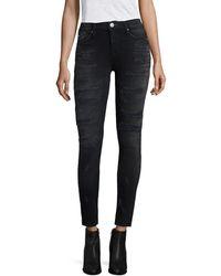 Hudson Jeans Nico Hijacked Super Skinny Leg - Black