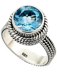 Samuel B. - Silver 5.75 Ct. Tw. Blue Topaz Ring - Lyst