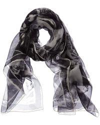 Alexander McQueen Skull Silk Scarf - Black
