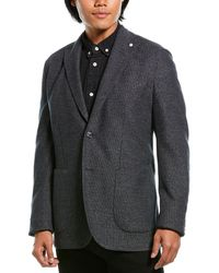 Lubiam Jack Wool-blend Sportscoat - Black