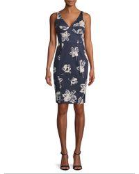 Paper Crown - Drew Floral Print Sheath Dress - Lyst