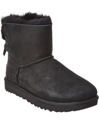 31292cb2226 Women's Mini Bailey Bow Ii Water-resistant Suede Boot - Black