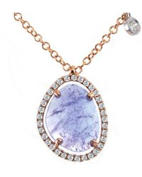 Meira T 14k Rose Gold 1.35 Ct. Tw. Diamond & Gemstone Necklace - Blue