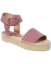 Saks Fifth Avenue - Leather Wedge Sandal - Lyst