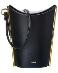Yuzefi Pitta Leather Bucket Bag - Black