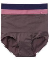 Yummie By Heather Thomson 3pk Seamless Brief - Purple