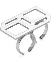 Pierre Hardy - Geometric Double Ring - Lyst