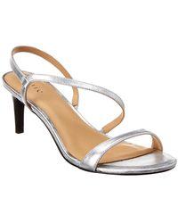 Joie Madi Metallic Leather Slingback Sandals