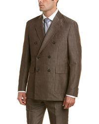 Michael Bastian 2pc Suit With Flat Pant - Brown