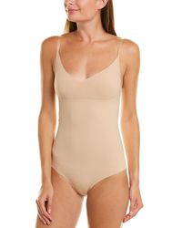 Commando ? Classic Control Thong Bodysuit - Brown
