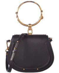 Chloé Nile Small Leather & Suede Bracelet Bag - Multicolor