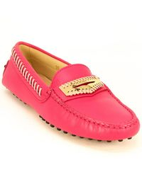 Tod's Tod?s Gommino Suede Moccasin - Pink