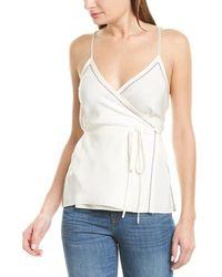 Rag & Bone Lina Silk Wrap Tank Top - White