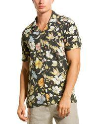 Onia Vacation Camp Collar Shirt - Black