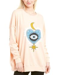 Wildfox Roadtrip Good Eye Sweatshirt - Pink