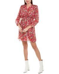 The Kooples Cherry Blossom Silk-blend Mini Dress - Red