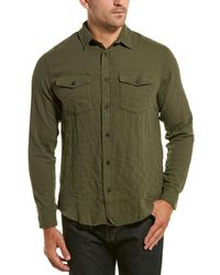 The Kooples Jeans Military Woven Shirt - Green
