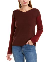 Vince Colorblocked Wool & Cashmere-blend Sweater - Red