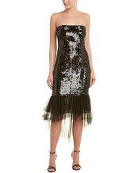 Pinko Sequin Midi Dress - Black