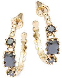 Eddie Borgo | Estate 12k Gold-plated Hoop Earrings- 0.88in | Lyst