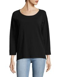 James Perse | Reverse Edge Cotton Pullover | Lyst