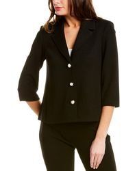 St. John Wool-blend Jacket - Black
