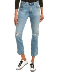 AG Jeans Isabelle 24 Years Hyde High-rise Straight Crop - Blue