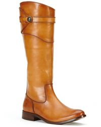 Frye Molly Button Leather Boot - Brown