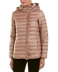 Cole Haan Quilted Down Coat - Brown