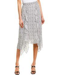 Parker Laine Silk-blend Midi Skirt - White