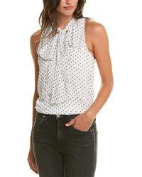 Madison Marcus Tie-neck Top - White