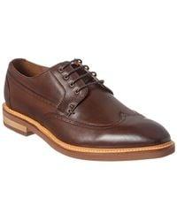 Gordon Rush Wingtip Leather Derby Shoe - Brown