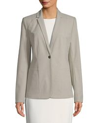 Tahari Asl Queena Single Button Blazer - Grey
